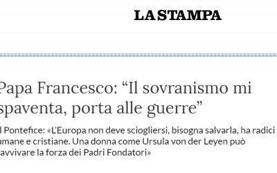 Nouvelle interview de François, cette fois à La Stampa