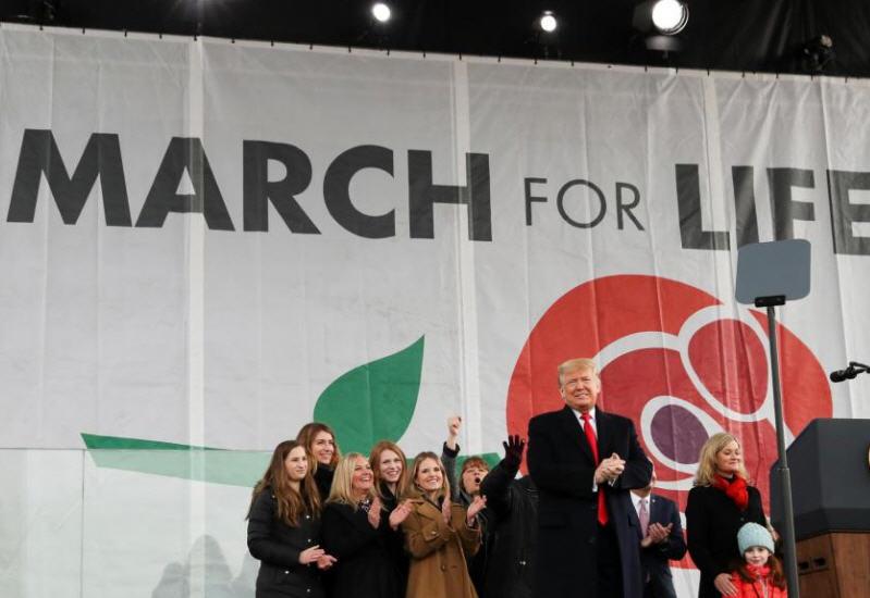 Trump à la Marche pour la vie