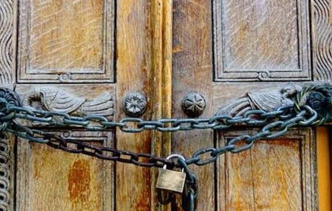 Toutes les églises de Rome fermées