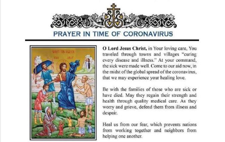 La prière en temps de coronavirus du Père Scalese