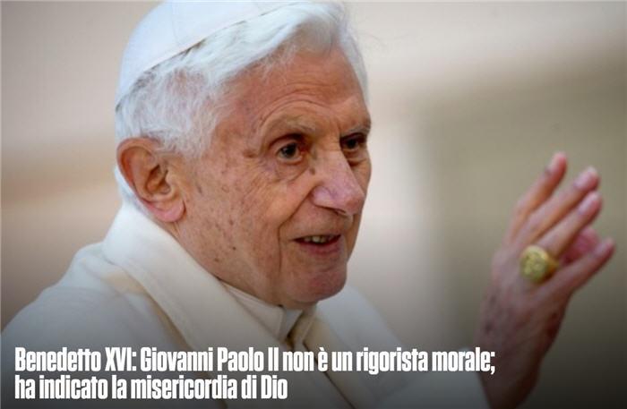 Une lettre de Benoît XVI pour le centenaire de la naissance de Jean-Paul II