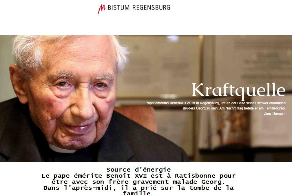Benoît XVI à Ratisbonne: c'est ICI
