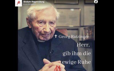 Georg Ratzinger (1924-2020): registre de condoléances