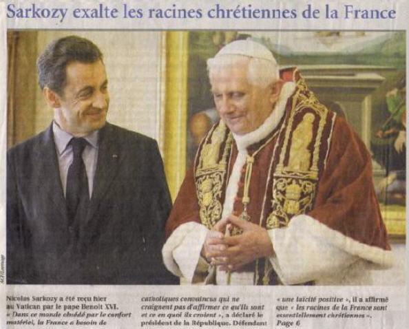 «Le temps des tempêtes»: Sarkozy chez Benoît XVI
